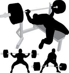 Powerlifting bench press squat deadlift vector image vector image