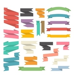 Ribbons set isolated vector image