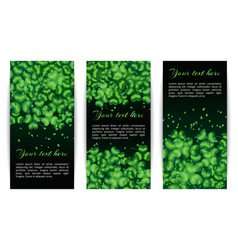 Set of banners with shamrocks vector
