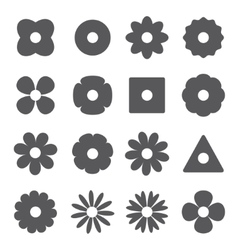 silhouettes of flowers vector image vector image