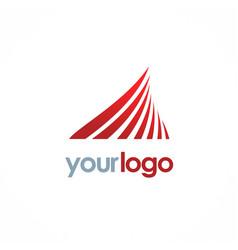 wave business finance logo vector image