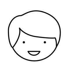 figure sticker face man icon vector image