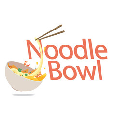 food noodle bowl background image vector image