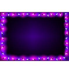 Purple Christmas Lights Background vector image vector image
