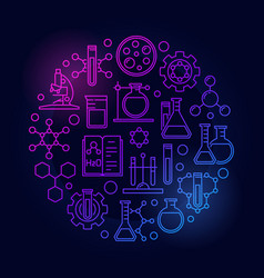 science and chemistry colored symbol vector image