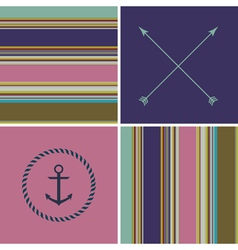geometric color hipster striped pattern background vector image vector image