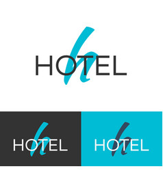 hotel logo letter h logo logo template vector image