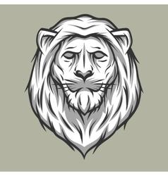 Lion head symbol Vintage style vector image vector image