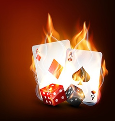 playing casino cards vector image vector image