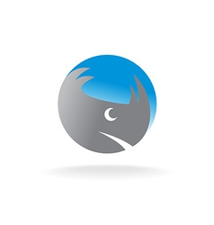 Rhino head logo vector image