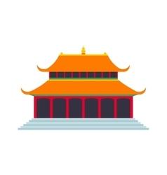 Beautiful china travel landmarks chinese temple vector image