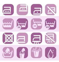 color washing icons set vector image