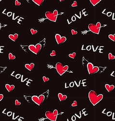 Happy Valentine Day seamless pattern vector image vector image