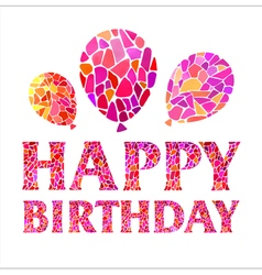 Original happy birthday card with balloons vector