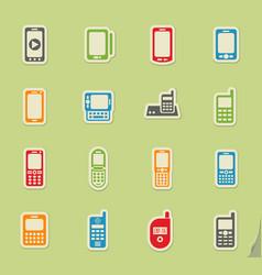 Phones icon set vector