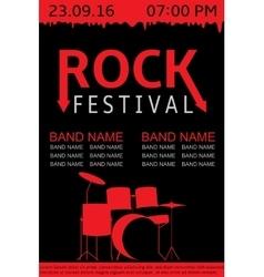 Rock festival banner vector image vector image