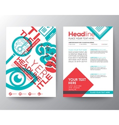 Typography Brochure Flyer design Layout template vector image vector image