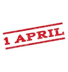1 April Watermark Stamp vector image