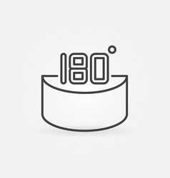 180 degrees concept icon or sign in thin vector