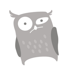 a serious owl looks at you with suspicion vector image