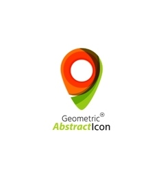 Abstract geometric business corporate emblem - map vector image