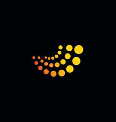 Abstract logo logo yellow logo circle vector