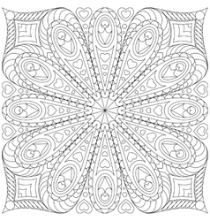 Adult coloring book page template vector