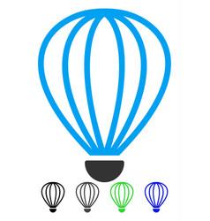 Aerostat flat icon vector