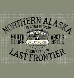 alaska north slope last frontier adventure vector image