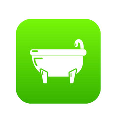bathtub icon green vector image