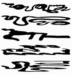beautiful black graffiti banners collection vector image