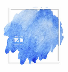 beautiful blue watercolor stain vector image