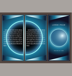 brochure blue geometrical abstraction ball vector image