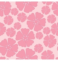 Cherry blossom seamless pattern background vector
