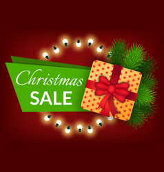 christmas sale promotional poster discount offers vector image