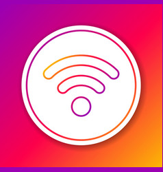 color wi-fi wireless internet network symbol line vector image