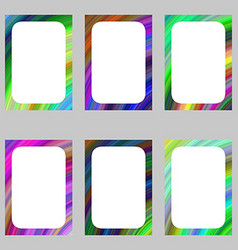 Colorful abstract digital art brochure frame set vector image