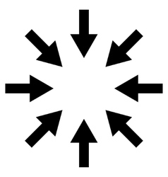 Compact Arrows Flat Icon vector