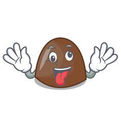 crazy chocolate candies mascot cartoon vector image