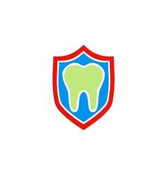 Dentist health protection shield logo vector