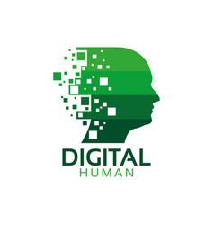 digital human logo icon design template vector image