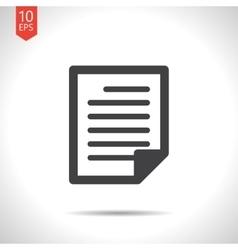 document icon Eps10 vector image