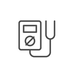 electric multimeter line outline icon vector image
