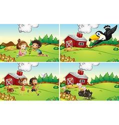 Farm scenes vector image