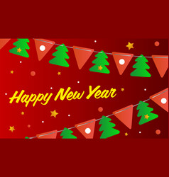 festive background happy new year new year card vector image