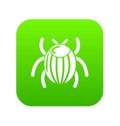 garden beetle bug icon green vector image