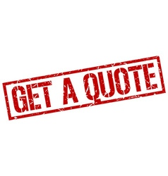 get a quote stamp vector image