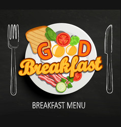 Good breakfast vector