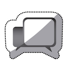 grayscale square chat bubbles icon vector image