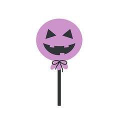 Halloween card with funny caramel isolated vector